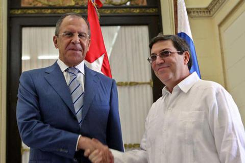 El ministro de Relaciones Exteriores, Bruno Rodríguez Parrilla, recibió a su homólogo ruso, Serguéi Víctorovich Lavrov, quien realiza una visita oficial a la mayor de las Antillas.
