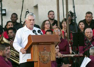 El Jefe de Estado cubano denunció que la administración Trump actúa con mayor agresividad para impedir la entrada de combustible a la Isla.