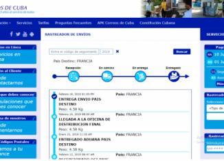 Posibilita rastrear los envíos que se realizan a través del Servicio Postal Universal, desde que se imponen en el país de origen hasta que llegan a la unidad de Correos de Cuba donde el destinatario debe recogerlo.