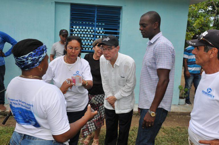 La obra fue inaugurada por el embajador nipón, Kazuhiro Fujimura, en el contexto del aniversario 90 del establecimiento de las relaciones diplomáticas entre La Habana y Tokio.