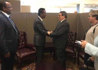 Bruno Rodríguez Parrilla se reunió con sus homólogos de Sierra Leona, Costa Rica, Marruecos y Somalia, en el contexto del segmento de alto nivel de la Asamblea General de la ONU.