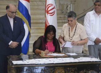 El país persa y la mayor de las Antillas se mantienen unidos en sus tradicionales lazos de amistad.