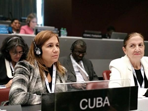 Ana María Mari Machado, vicepresidenta de la Asamblea Nacional del Poder Popular, afirmó que se trata de una violación masiva, flagrante y sistemática de los derechos humanos de su pueblo y es el principal obstáculo para su desarrollo.