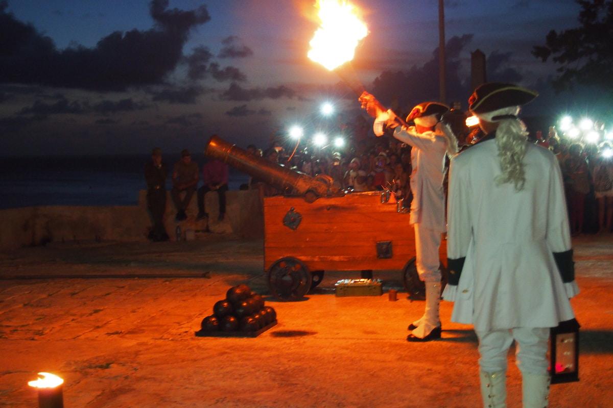 La ceremonia del ¨Cañonazo de las Nueve¨ es Patrimonio Inmaterial de la Humanidad.