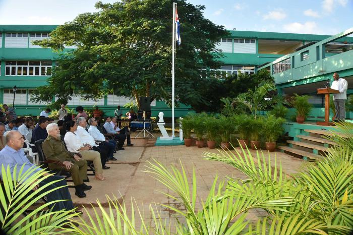 En el acto el presidente cubano Miguel Díaz-Canel Bermúdez llamó a la Casa de Altos Estudios a trabajar por la identidad de la provincia.