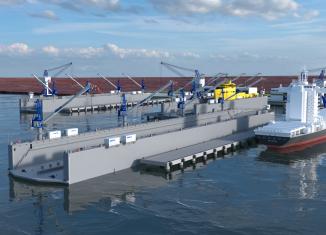 Es el más moderno del país porque consta de un sistema novedoso de tecnología de punta con monitores táctiles que pueden controlar los procesos que se realizan para el mantenimiento de las embarcaciones.