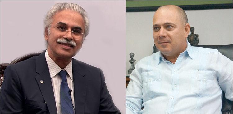 Roberto Morales Ojeda recorrió el Instituto Nacional de Salud de Pakistán, y sostuvo un fraternal encuentro con su director ejecutivo, Aamer Ikram.