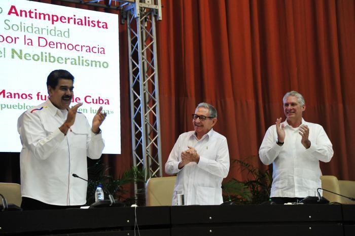 Discurso pronunciado por Miguel M. Díaz-Canel Bermúdez, Presidente de la República de Cuba, en la clausura del Encuentro antimperialista de solidaridad, por la democracia y contra el neoliberalismo, en el Palacio de Convenciones, el 3 de noviembre de 2019