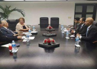 El vicepresidente del Consejo de Ministros, Ricardo Cabrisas Ruiz, y el director regional del Fondo Saudita para el Desarrollo, Bandr Al Harbi, destacaron en La Habana el apoyo del Fondo a programas de crecimiento económico en la Isla.
