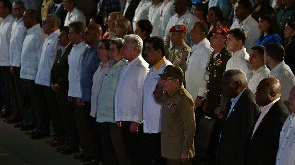 El acto cerró una jornada en la que los asistentes a la XVII Cumbre del ALBA-TCP abordaron la actual situación regional y las perspectivas de la Alianza en la presente coyuntura en América Latina, incluida su condición como Zona de Paz.