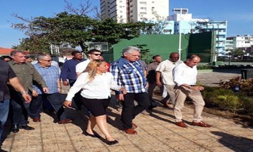 Miguel Díaz-Canel Bermúdez visitó el Complejo Recreativo ¨Marcelo Salado¨y el Círculo Social Obrero ¨José Antonio Echeverría¨, ubicado en el municipio Plaza de la Revolución.