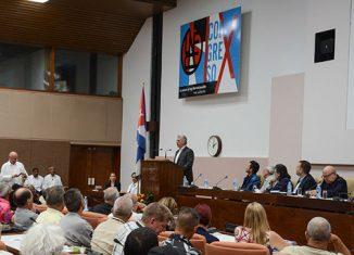 El Presidente de la República sostuvo un encuentro con creadores de la UNEAC y representantes del Ministerio de Cultura, el ICRT, el ICAIC.