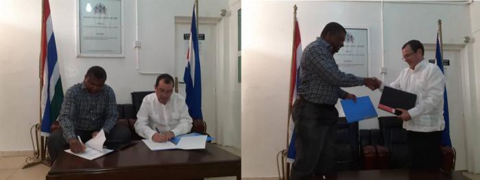 El inicio de la cooperación médica cubana en Gambia se remonta a junio de 1996, cuando 38 colaboradores arribaron a Banjul en la modalidad de Asistencia Técnica.