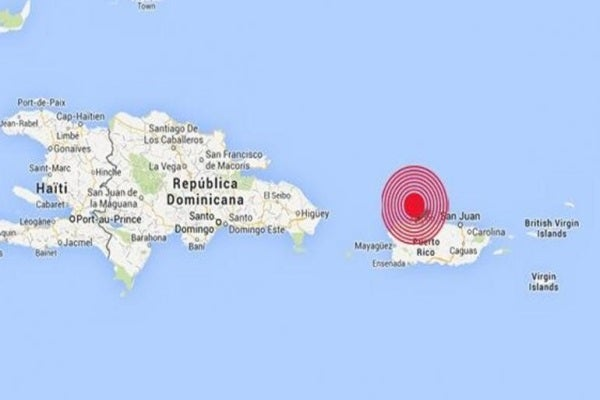 El sismo del pasado 7 de enero en Puerto Rico, afectó levemente a Bahamas, Islas Vírgenes Británicas, Dominica, República Dominicana, San Martín, Guadalupe y Haití.