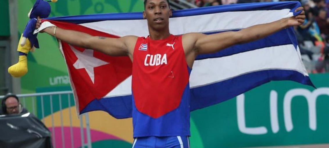 Juan Miguel Echevarría Oro en mitin de atletismo de Madrid