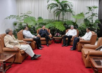 En un ambiente fraterno, conversaron sobre las históricas relaciones de hermandad entre ambas naciones y destacaron la decisiva contribución a las mismas del Comandante en Jefe de la Revolución cubana Fidel Castro Ruz y del General Omar Torrijos Herrera, fundador del PRD.