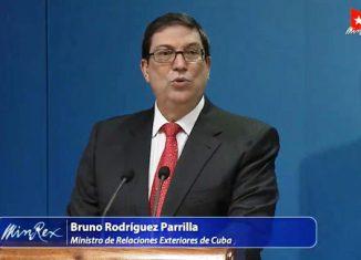 Canciller cubano reconoció apoyo de la diáspora a la lucha contra el bloqueo impuesto por los Estados Unidos