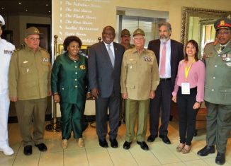 Delegación de Cuba en celebraciones Fuerzas Armadas de Sudáfrica