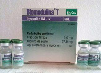 El medicamento, producido en el Centro Nacional de Biopreparados (BioCen), tiene resultados comprobados en el aumento de las defensas de los organismos y las evidencias científicas apuntan a que durante una infección de Covid-19, provee linfocitos T para combatir la enfermedad.