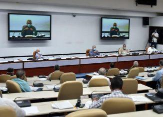 En la reunión –encabezada por el Presidente de la República, Miguel Díaz-Canel Bermúdez, y dirigida por el Primer Ministro, Manuel Marrero Cruz– también se dieron indicaciones para la elaboración del Plan y el Presupuesto para el año próximo, y se abordaron otros asuntos de impacto en la vida de la nación.