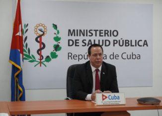 El ministro de salud pública de Cuba, doctor José Ángel Portal Miranda, intervino en la 73 Asamblea Mundial de la Salud, que se desarrolla este lunes de manera virtual.