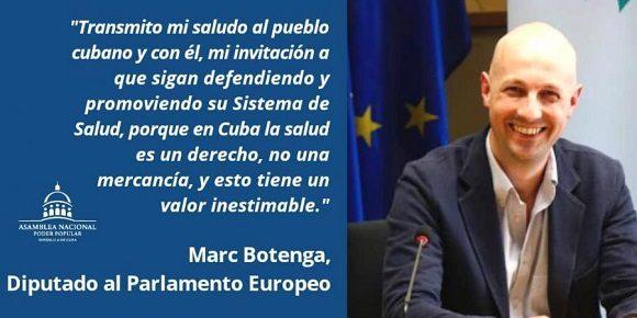 El eurodiputado belga Marc Botenga reconoció este miércoles la labor de los profesionales cubanos de la salud en el enfrentamiento a la COVID 19 y llamó a los países de Europa a denunciar con más firmeza el bloqueo estadounidense.