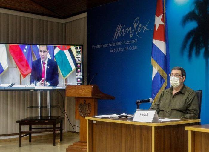 El Ministro de Exteriores de Cuba destacó la esencia humanista de los miembros e invitados de la alba-tcp que defienden el derecho a la salud y a la vida, a pesar de las presiones económicas.