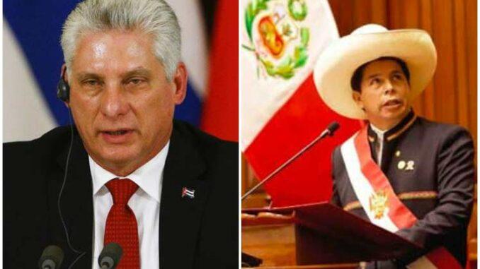 El Primer Secretario del Comité Central del Partido Comunista de Cuba y Presidente de la República, Miguel Díaz-Canel Bermúdez, sostuvo, este jueves, una conversación telefónica con el presidente electo de Perú, Pedro Castillo.