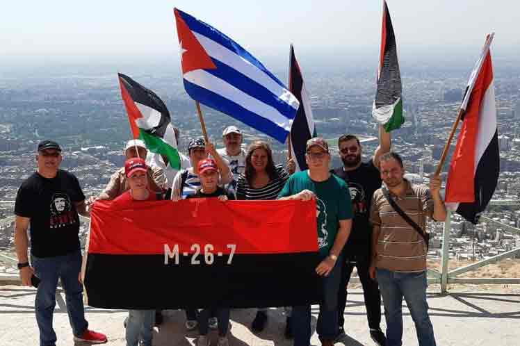 Sirios, cubanos y palestinos ratificaron este lunes su solidaridad y apoyo a la isla ante los intentos de desestabilización por parte de Estados Unidos, en una actividad organizada por el Día de la Rebeldía Nacional.