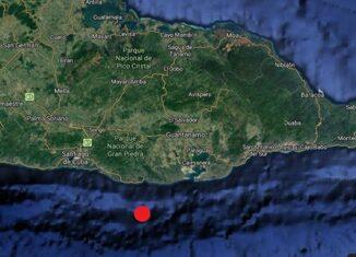 A las 9:33 pm del domingo, la red de Estaciones del Servicio Sismológico Nacional registró un sismo perceptible, localizado en las coordenadas 19.693 grados de latitud norte y los -75.484 grados de longitud oeste, con una profundidad de 16.3 km.
