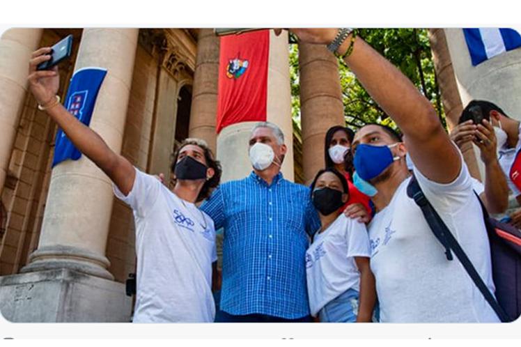 Al comentar en Twitter un encuentro realizado con un centenar de jóvenes de diversos sectores, en la Universidad de La Habana (UH), el mandatario cubano apuntó: ¨Cuando hablamos con ustedes uno se siente muy seguro de que vamos a tener en el menor tiempo posible un país mejor.