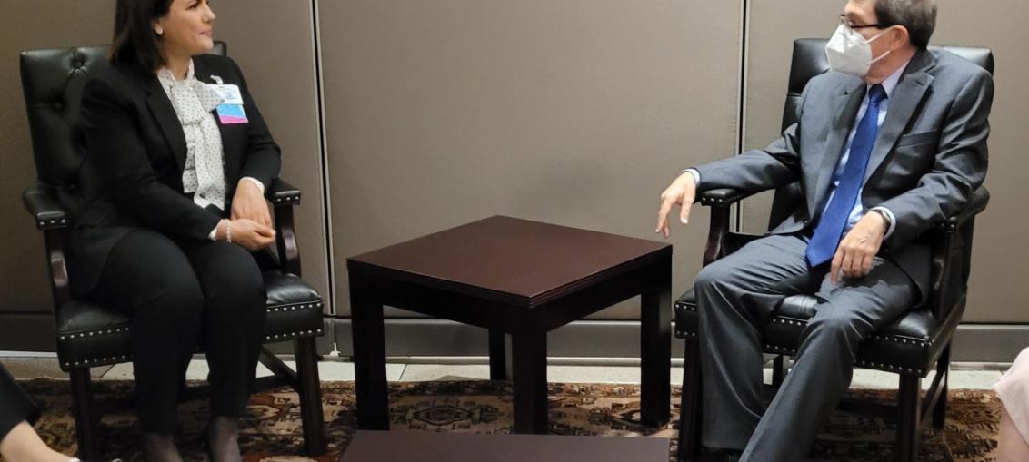 Bruno Rodríguez Parrilla adelantó que ambas partes intercambiaron sobre temas de interés común de la agenda bilateral e internacional. Rodríguez y Najla El Mangoush se reunieron en el marco del 76 período de la Asamblea General de la ONU.