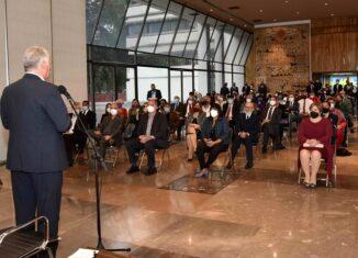 El Presidente de la República, Miguel Díaz-Canel Bermúdez, diálogo con representantes del movimiento mexicano de solidaridad con Cuba, por casi dos horas durante la tarde de este jueves en la sede de nuestra embajada en el hermano país azteca.